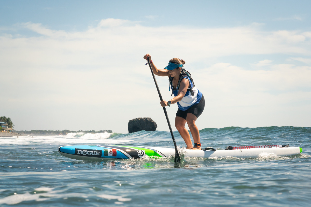 Mexican Mariana Carrasco Zanini was the first finisher to complete the course correctly in fourth position ©ISA