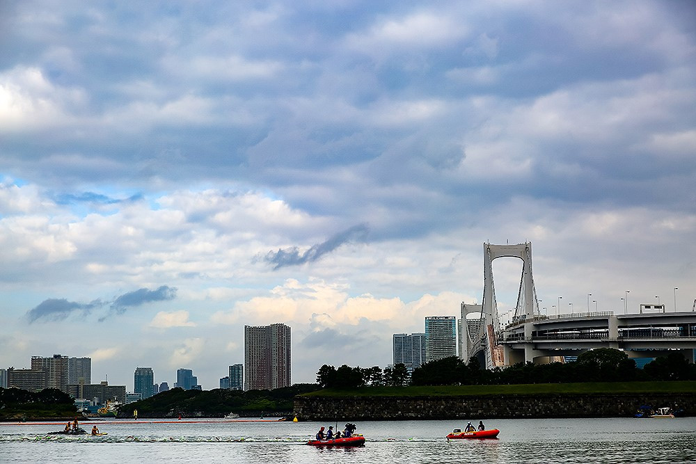 The maximum water temperature recorded in screening areas at Odaiba Marine Park reached 30.8 celsius ©Tokyo 2020