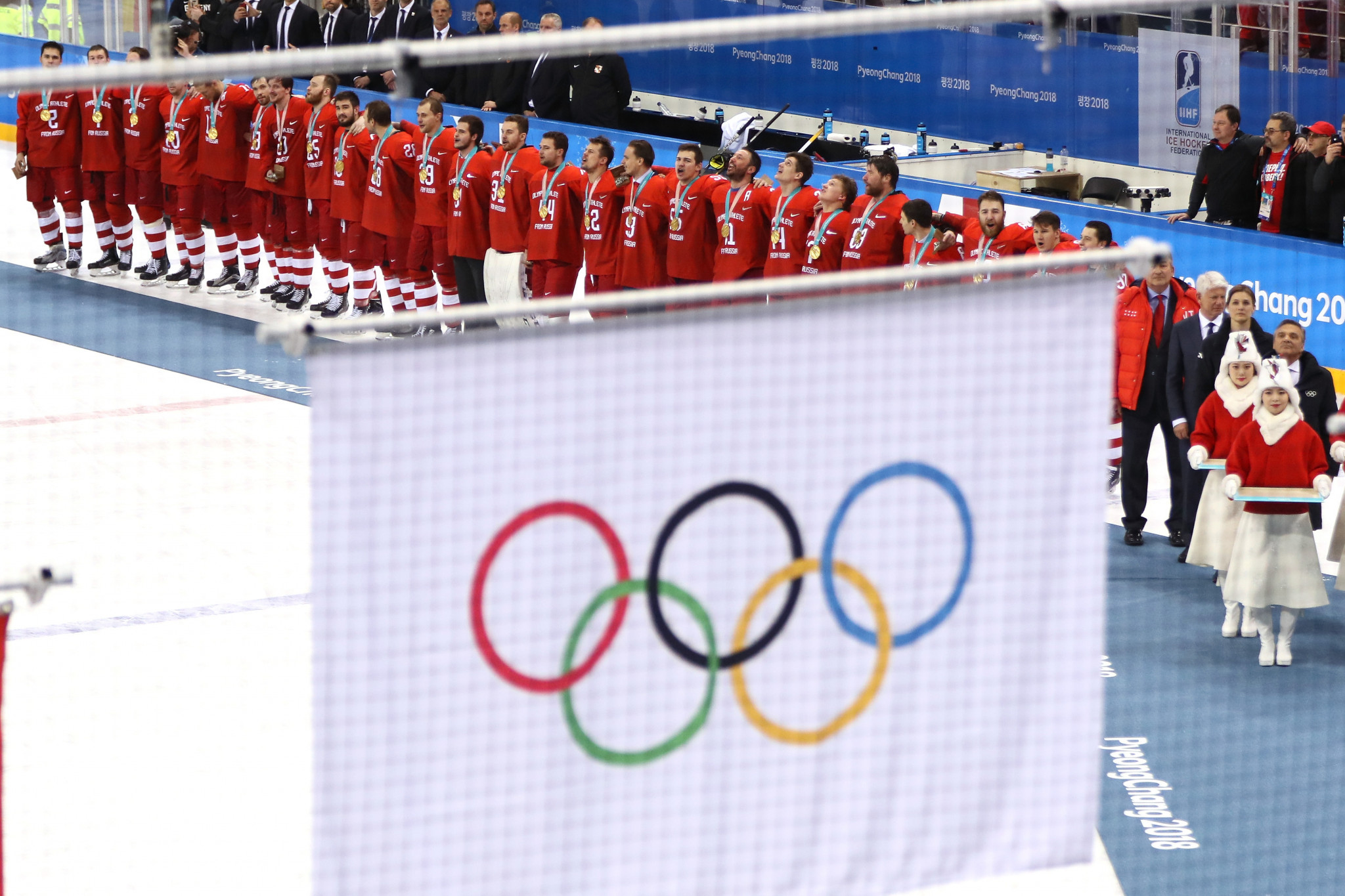 Russia had to compete under the Olympic flag at Pyeongchang 2018 and will have to do the same at Tokyo 2020 if the recommendations of the WADA Compliance Review Committee are accepted ©Getty Images