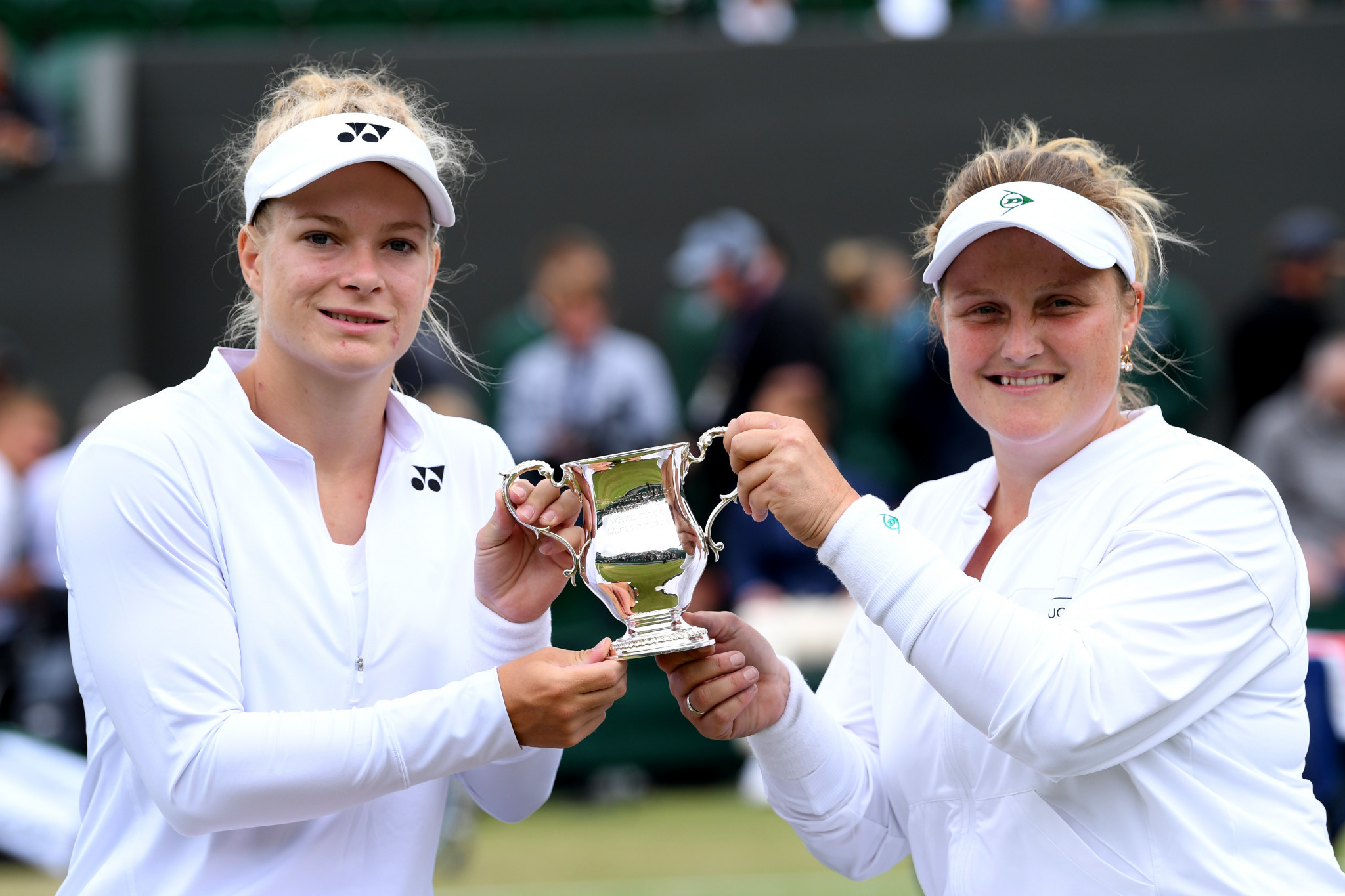 Diede De Groot and Aniek Van Koot of The Netherlands won the women's doubles titles at the UNIQLO Wheelchair Doubles Masters in Orlando having already triumphed at Wimbledon this year ©Getty Images
