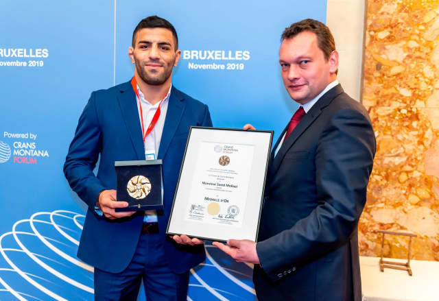 Iranian judoka who sought asylum after being ordered to throw match receives award