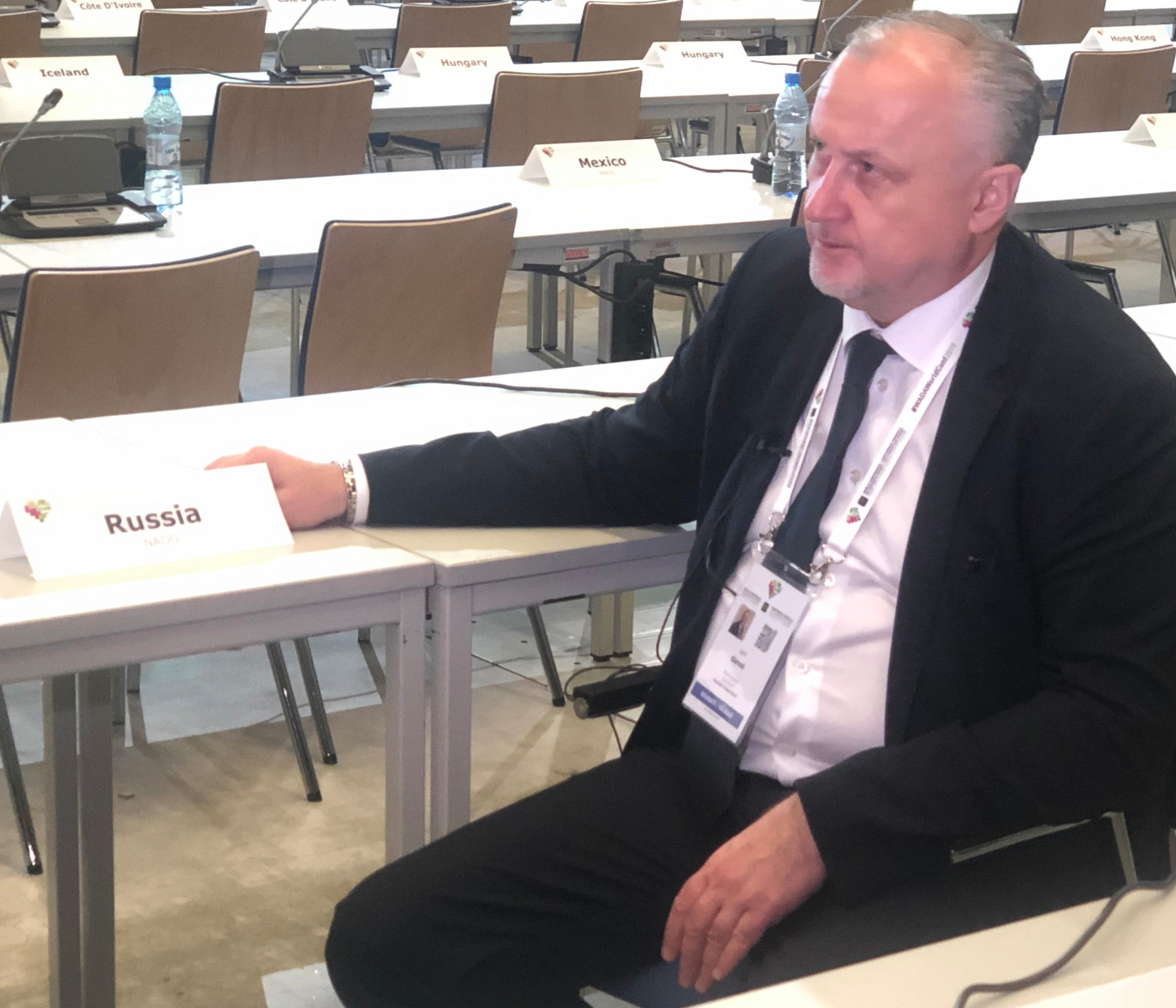 Russian Anti-Doping Agency chief executive Yuriy Granus has claimed that he can see no grounds on which his organisation can legally challenge the findings of the WADA Compliance Review Committee ©ITG