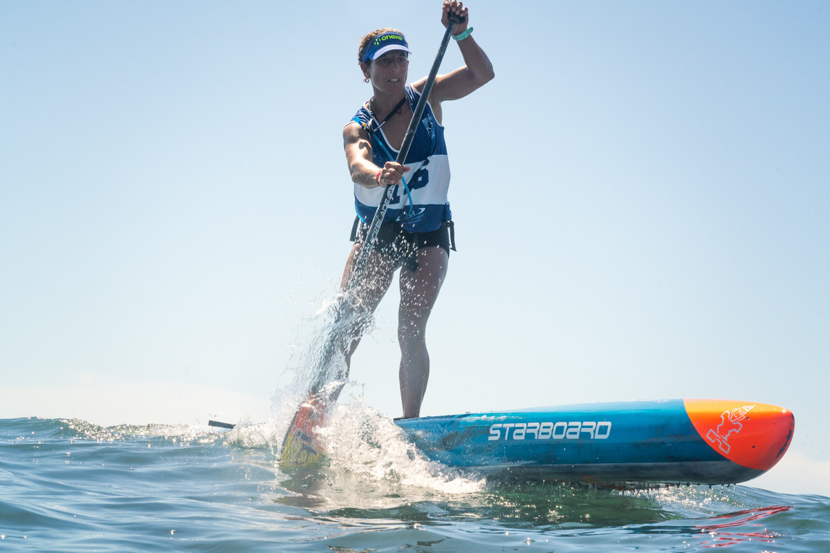 Esperanza Barreras of Spain cruised into tomorrow's standup paddle technical final ©ISA