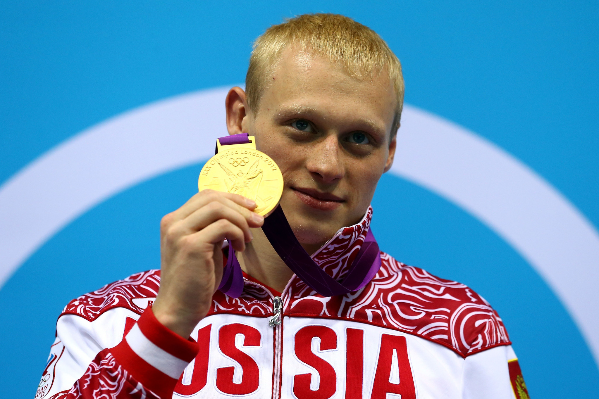 Zakharov with gold at London 2012 ©Getty Images