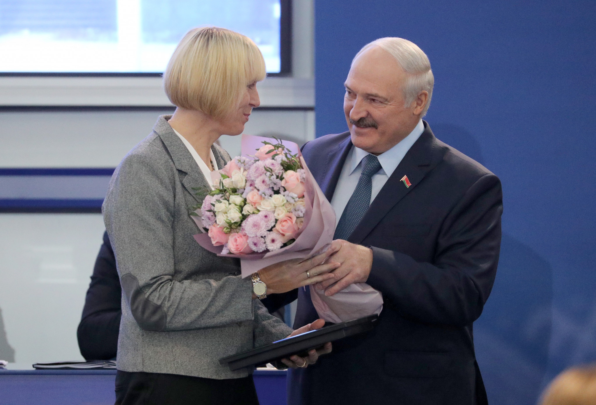 Double Olympic champion Ekaterina Karsten was presented with a badge of honour of the National Olympic Committee of the Republic of Belarus ©NOC RB