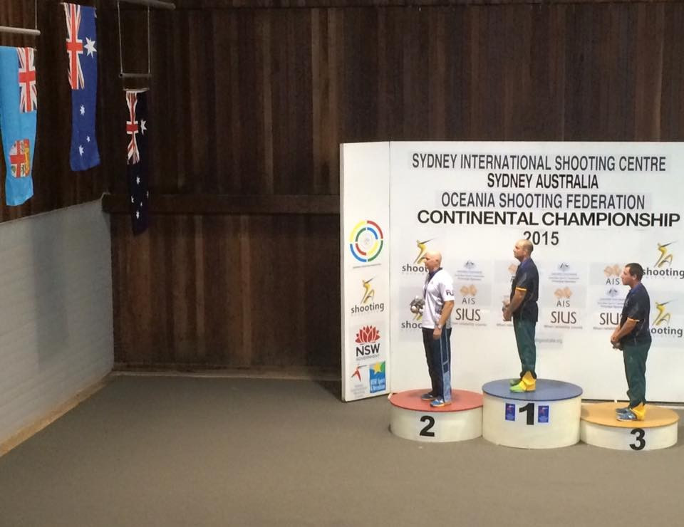 Australian veteran Adam Vella won the men's trap competition at the Oceania Shooting Championships ©Shooting Australia