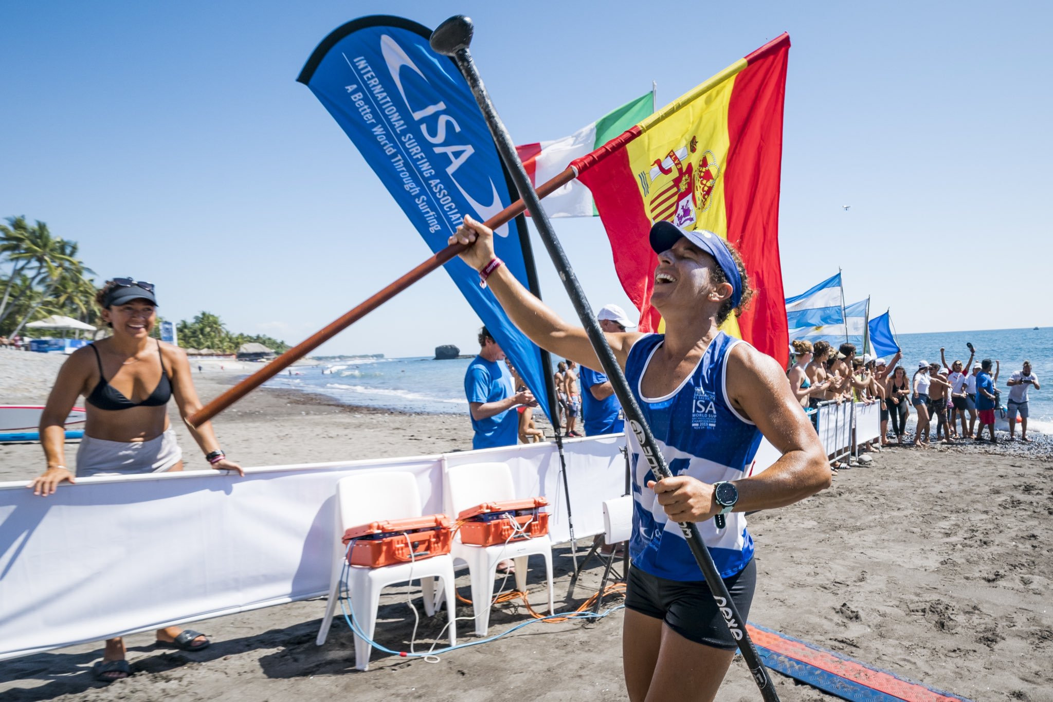 Esperanza Barreras of Spain claimed her second gold in El Sunzal on day four ©ISA