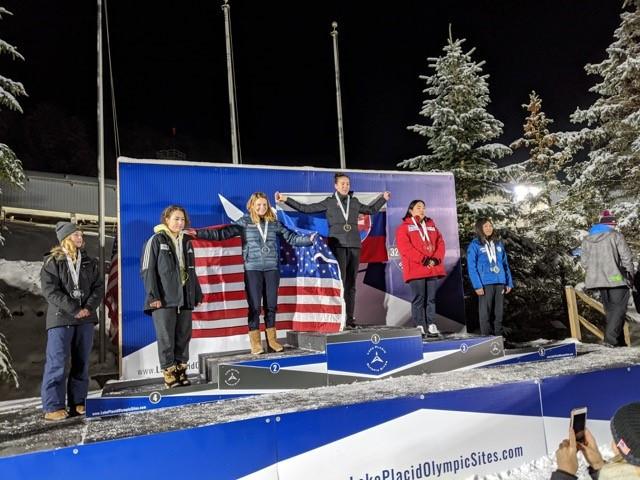 Slovakia's Viktoria Cernanska topped the women's monobob standings ©Kim McGuire/IBSF