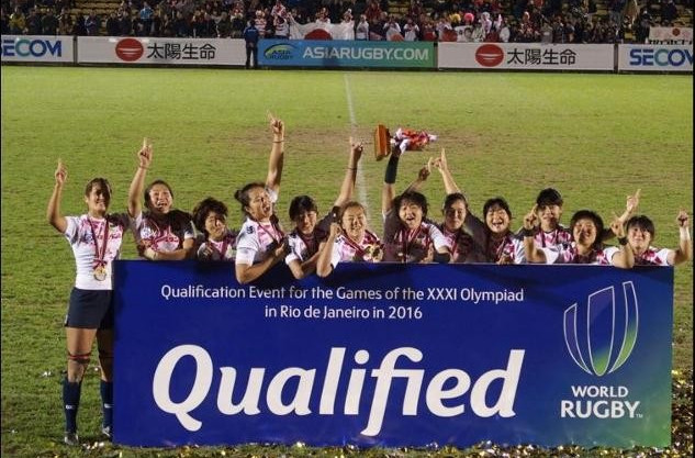 Japanese women secure Rio 2016 spot with win at Asian rugby sevens regional qualifier