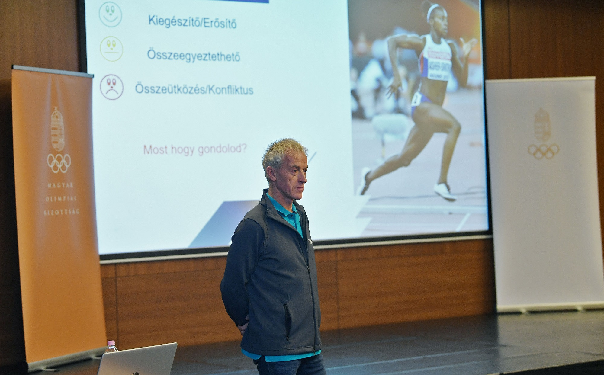 Former modern pentathlete Attila Mizsér led the workshop ©HOC