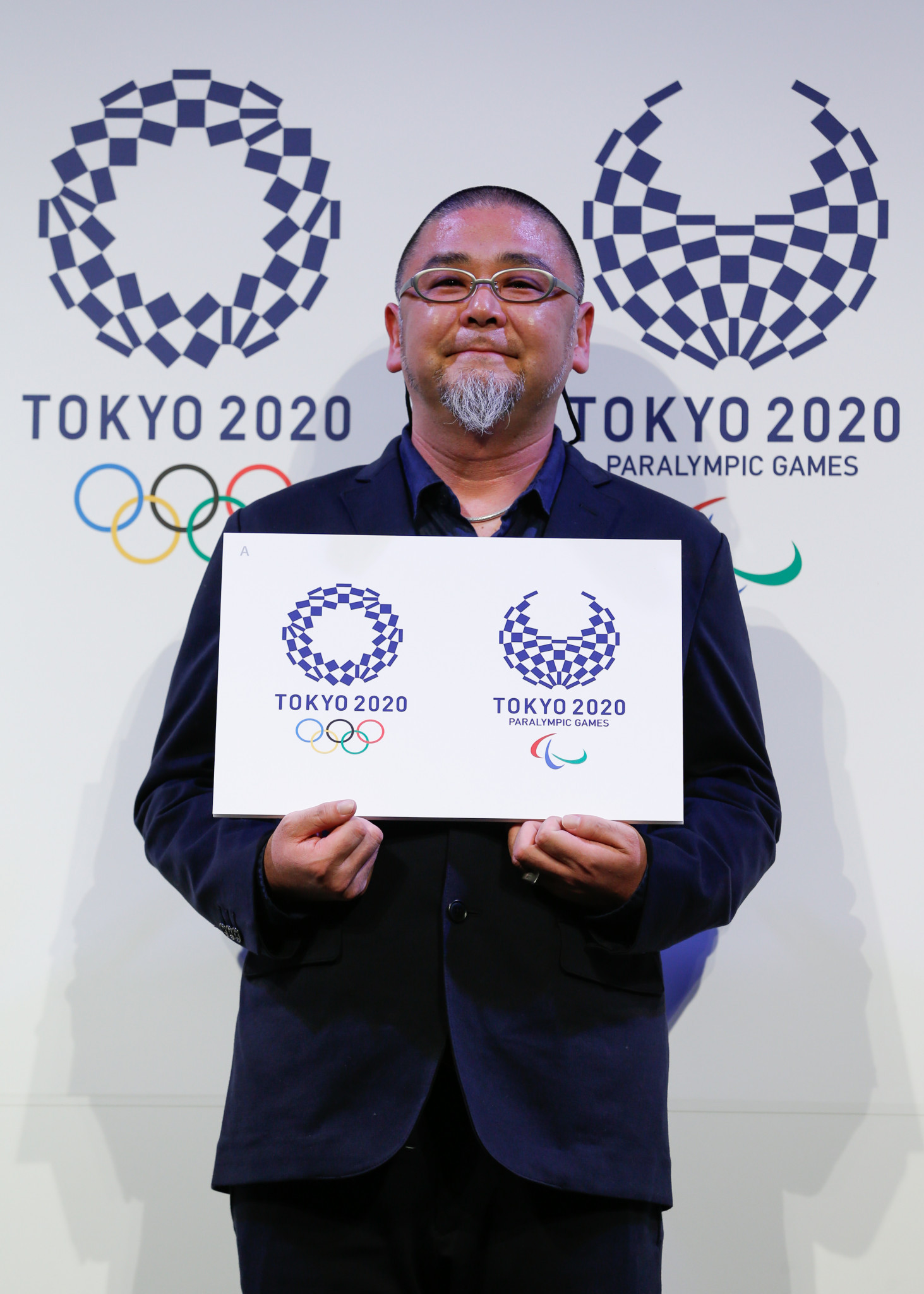 Asao Tokolo, the Japanese artist who designed the Tokyo 2020 emblems, will provide two pieces of work ©Getty Images