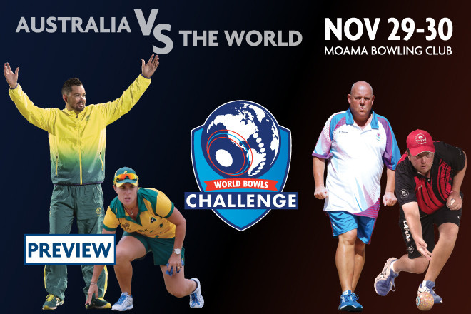 Australia will take on the Rest of the World in the inaugural World Bowls Challenge ©Bowls Australia