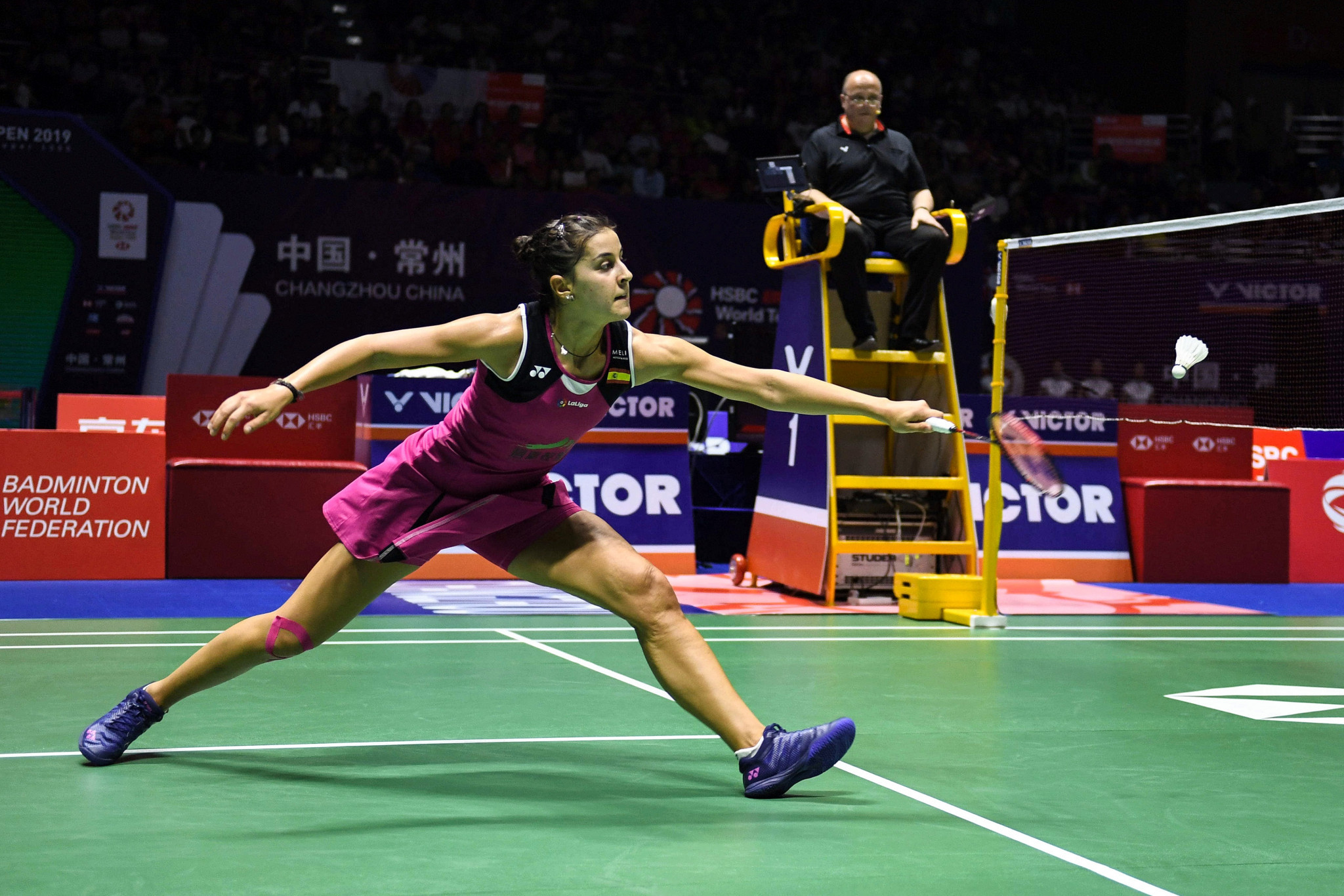 Olympic champion Marín through to last eight at Syed Modi International Badminton Championships