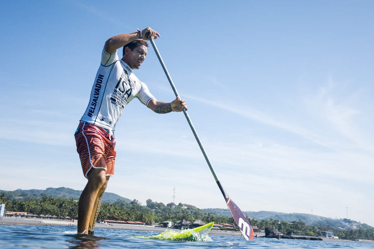 Blue Water High Cast waves crank up a notch as sup surfing preliminaries begin at