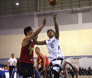Thailand overcame China in the opening match of the competition ©IWBF