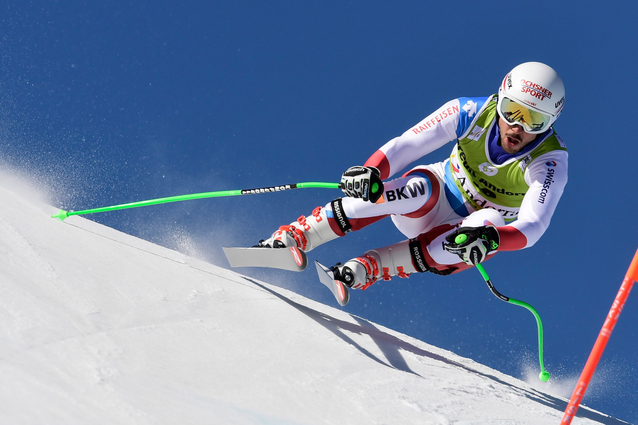 Carlo Janka was the fastest competitor in training for the downhill competition at Lake Louise ©Getty Images