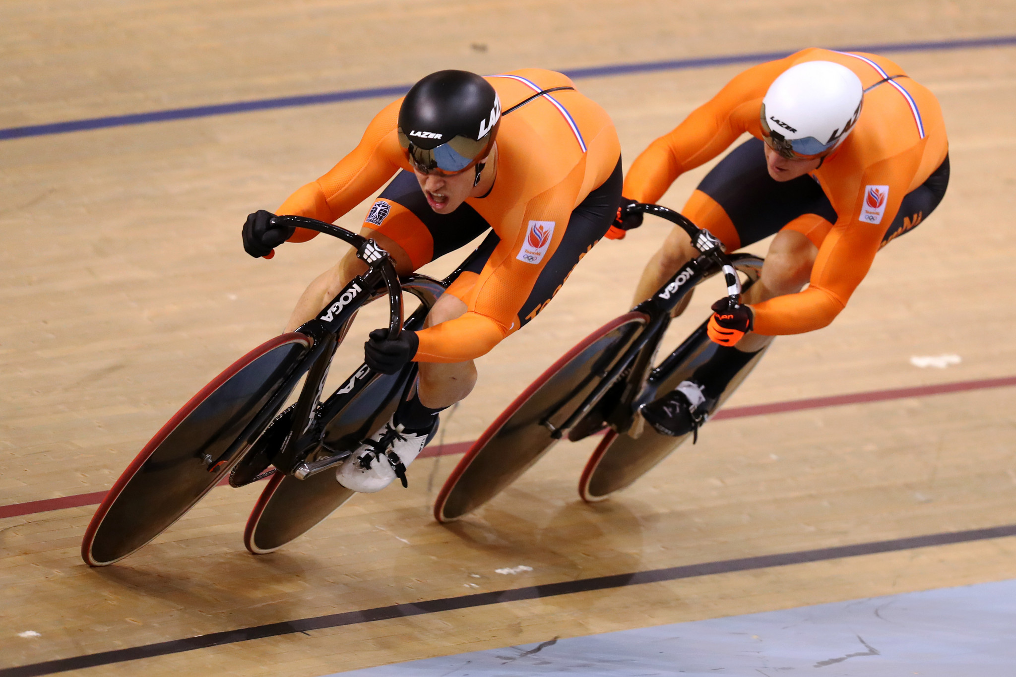 World champions The Netherlands triumphed in the men's team sprint ©Getty Images