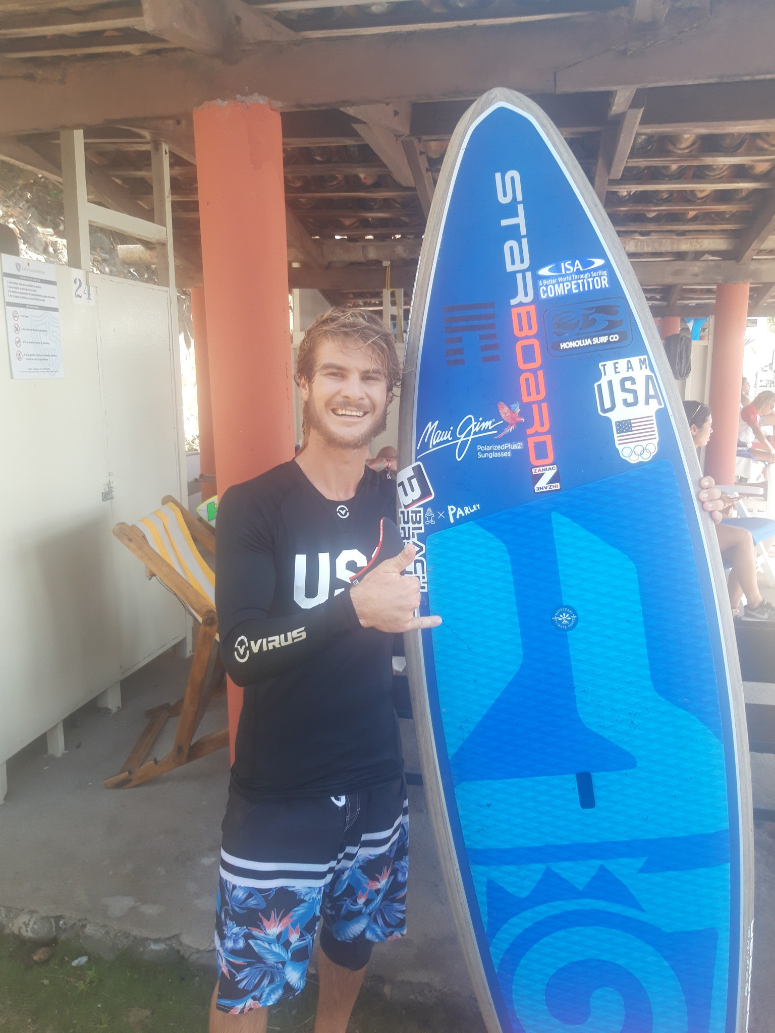 American Zane Schweitzer has backed the ISA to govern the stand-up paddle discipline ©ITG