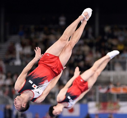 Japan sweep team synchronised events at Trampoline Gymnastics World Championships