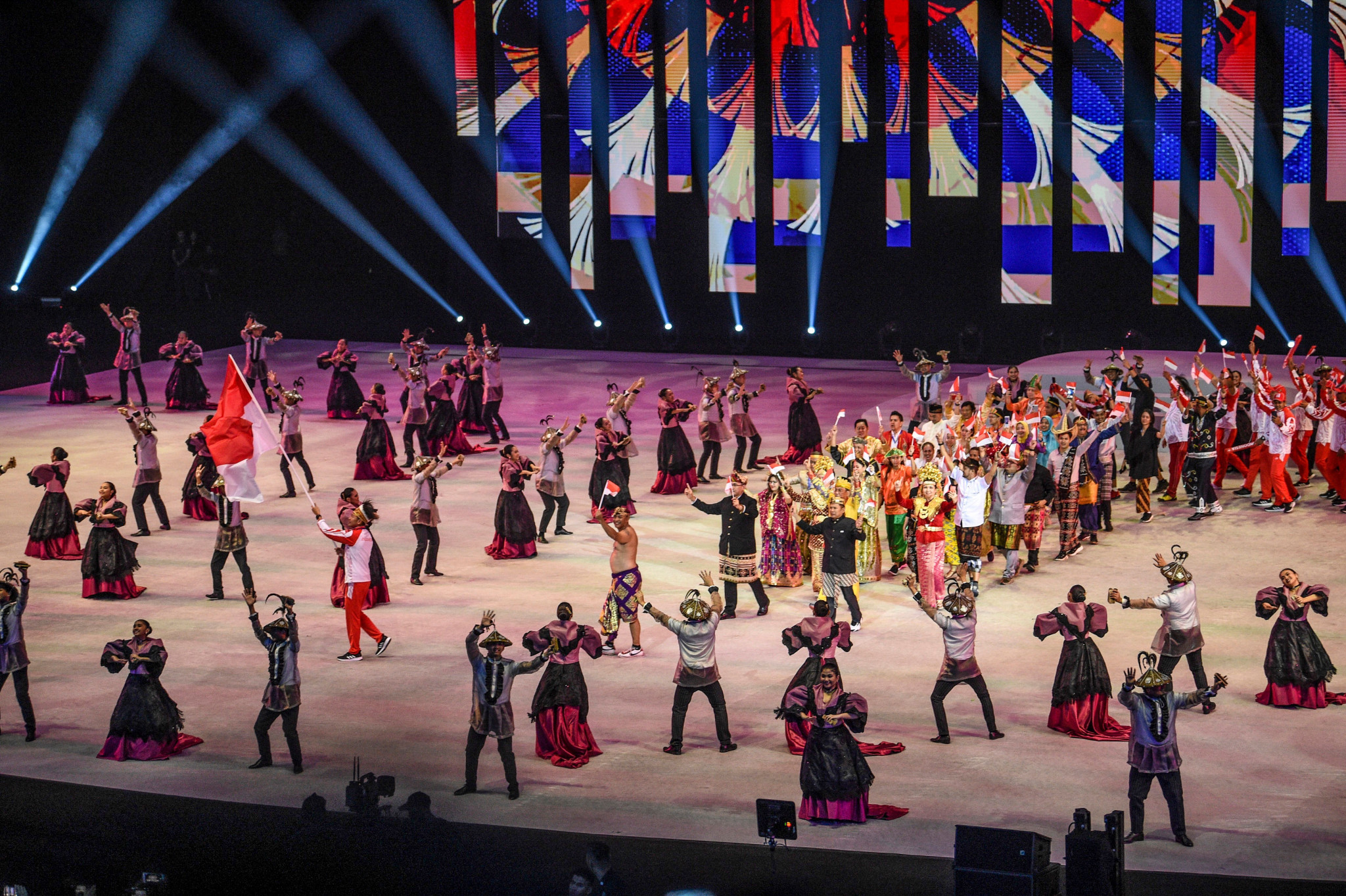 Cultural performances took place during the Opening Ceremony ©Getty Images