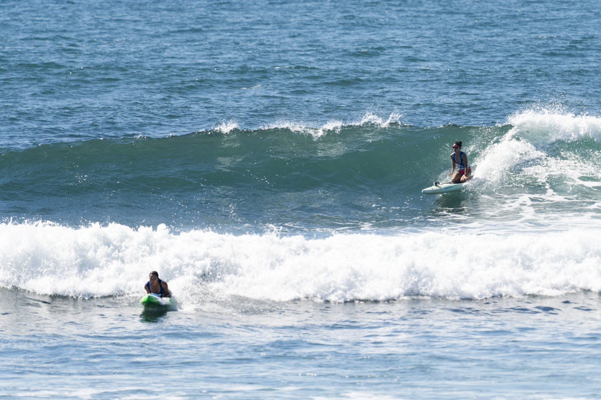 Yulika Andrea Torres is one of just eight Guatemalan surfers competing at El Sunzal beach ©ISA