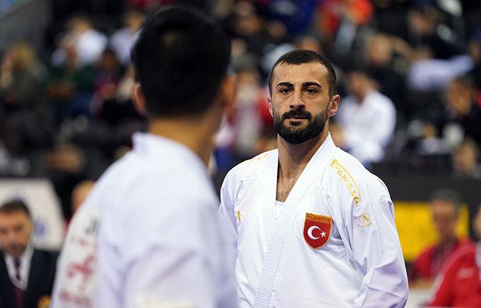 European champion Ugur Aktas was in fine form in Madrid ©World Karate Federation