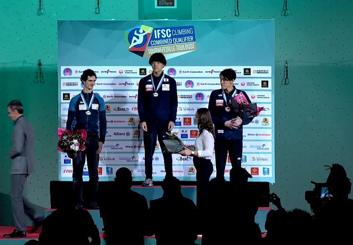 Fujii triumphs at IFSC Combined Qualifier in France