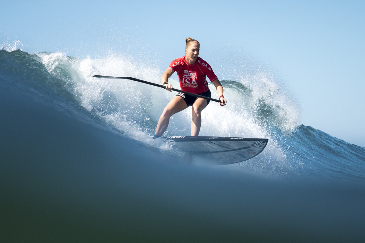 Benoit Carpentier can seal victory for France with victory in the men's SUP surf finale tomorrow ©ISA