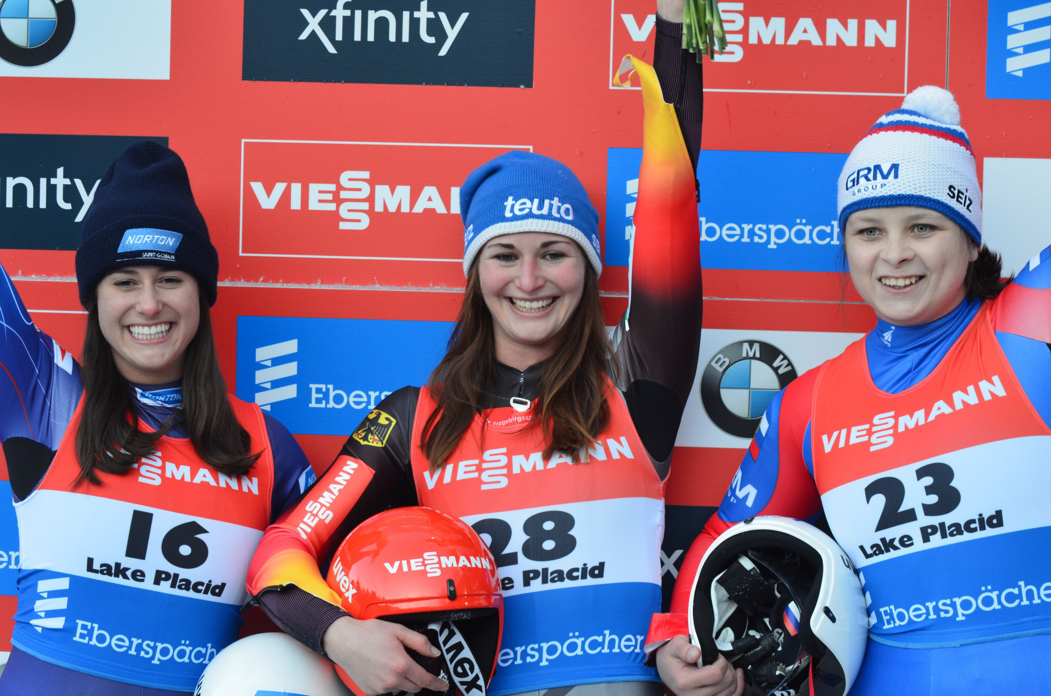 Taubitz triumphs on good day for Germany at Luge World Cup in Lake Placid