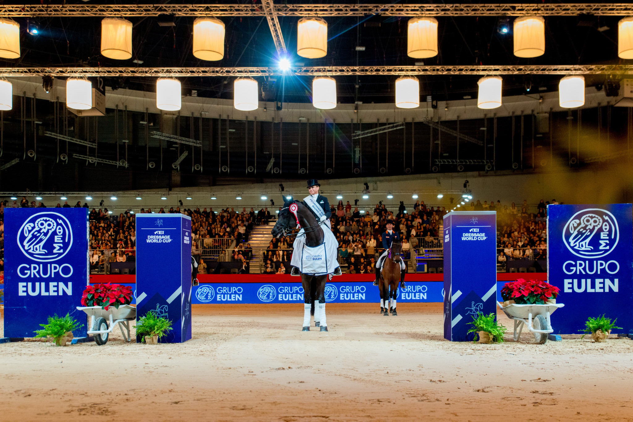 Dorothee Schneider came out on top in Madrid ©FEI