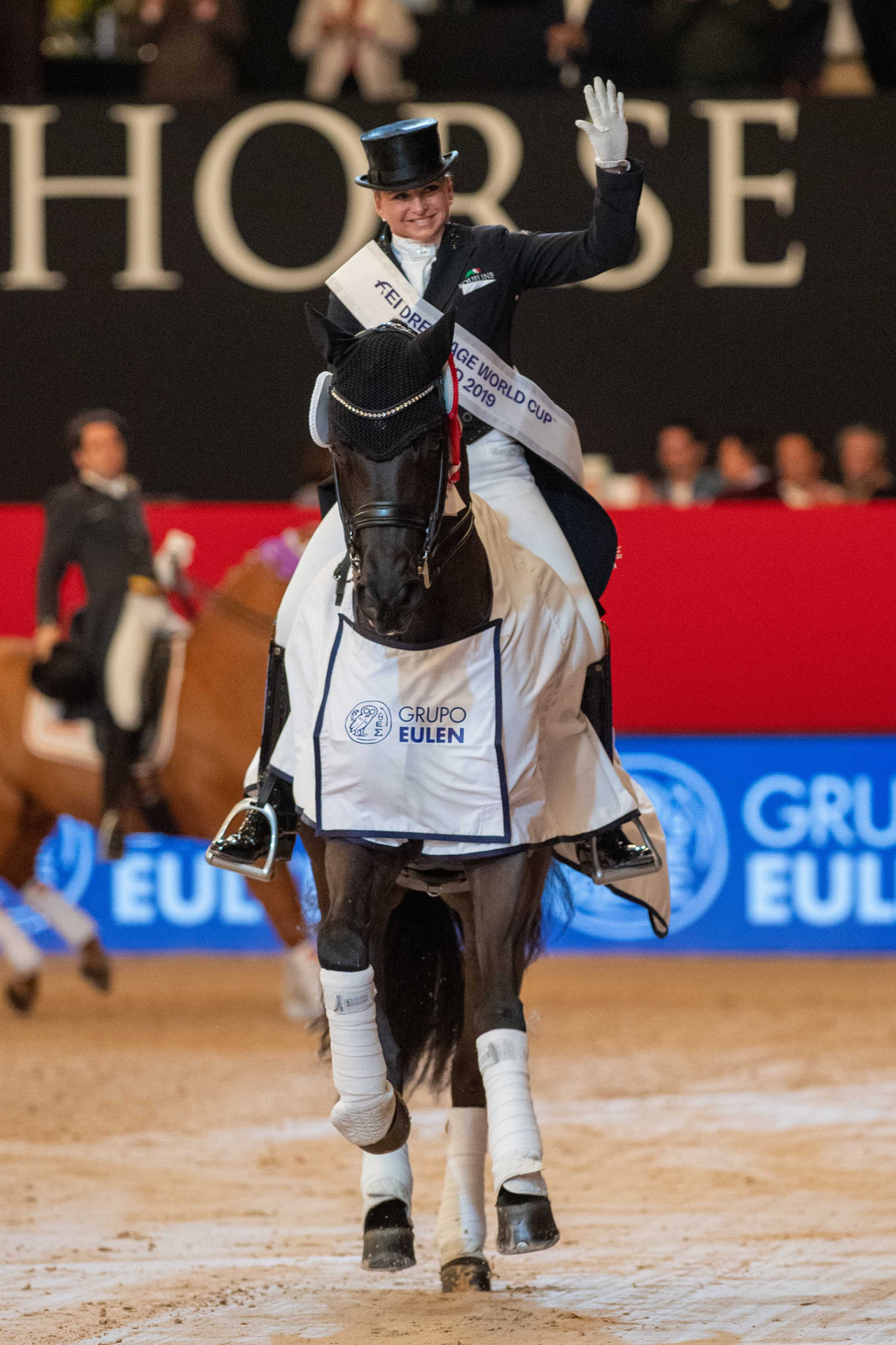 Dorothee Schneider continued a run of German success in the Western European League ©FEI
