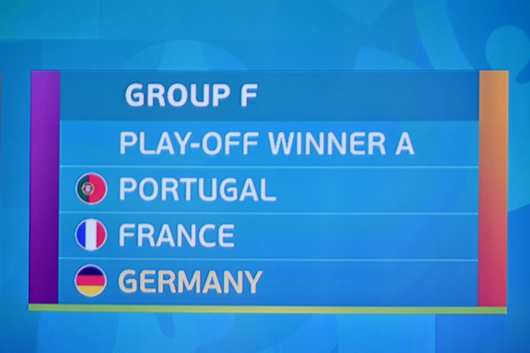 Portugal, France and Germany were all placed in a tough Group F ©Getty Images