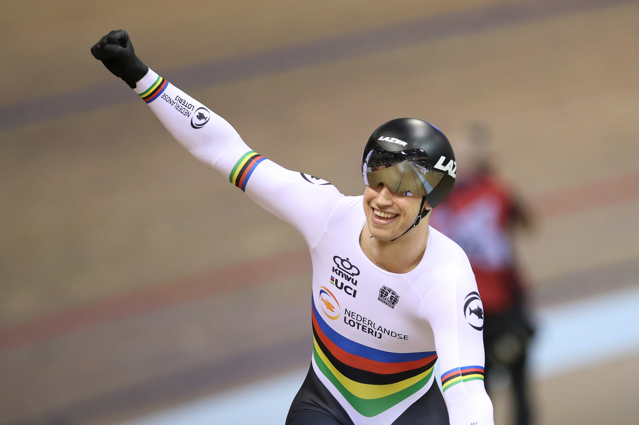 Lavreysen wins repeat of World Championship sprint final at UCI Track World Cup in Hong Kong