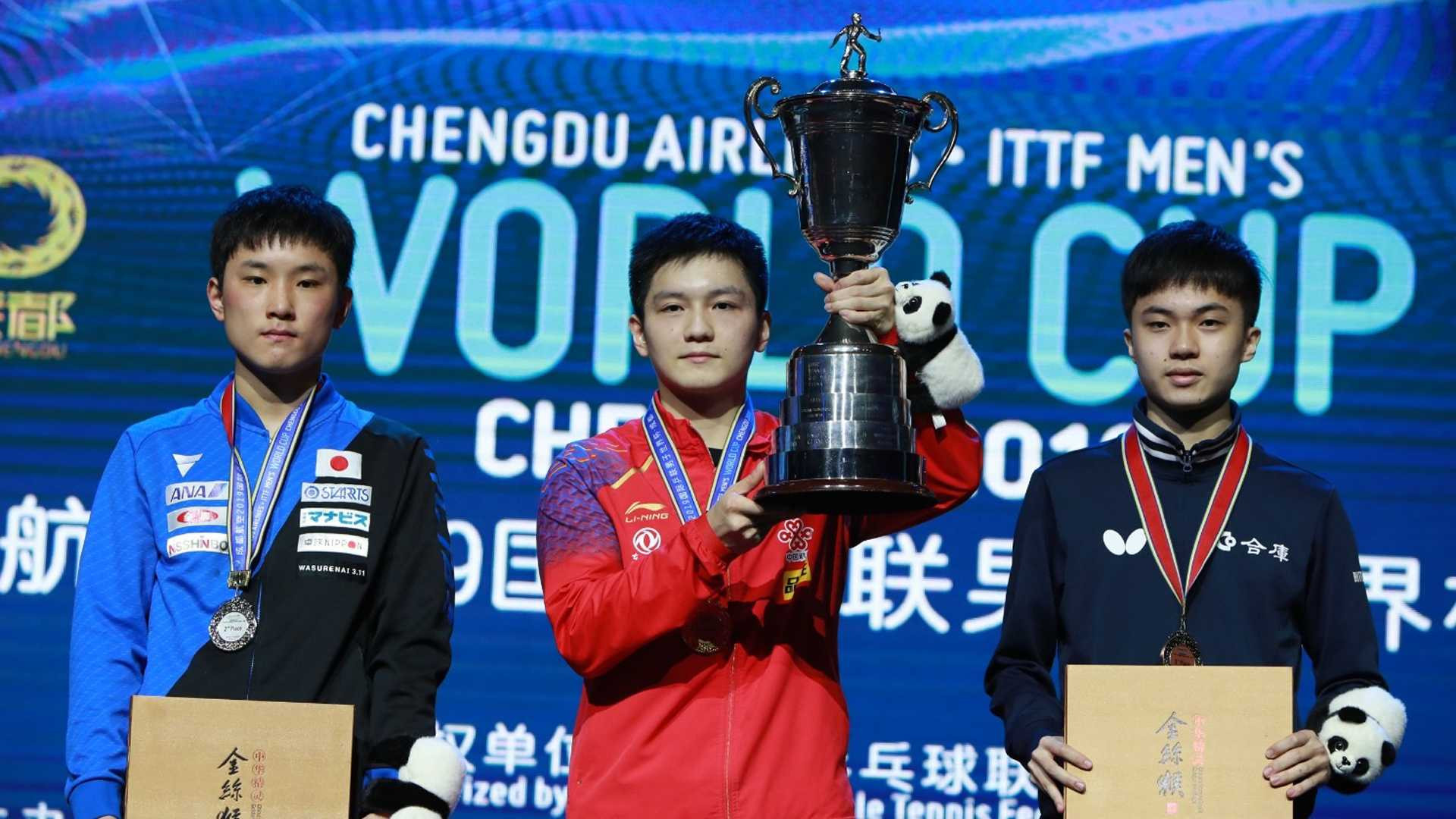 Fan Zhendong beat a teenage opponent today in both the semi-finals and final ©ITTF