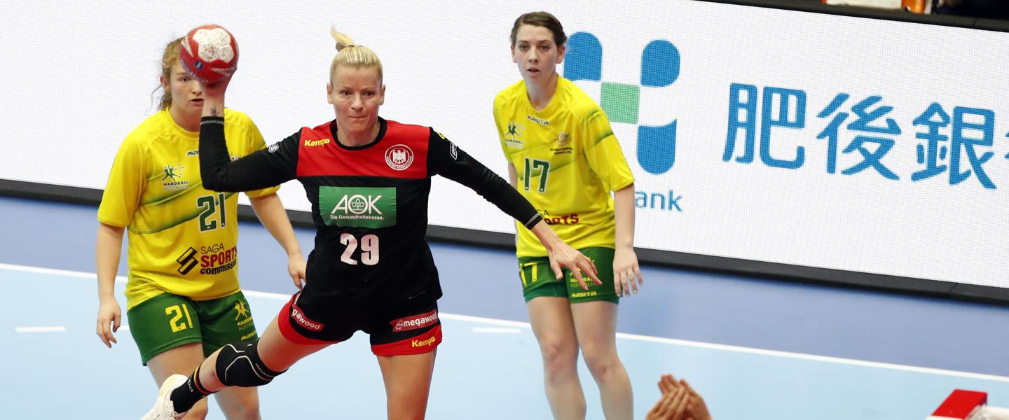 Germany are now three points ahead of France at the top of Group B in the IHF Women's World Championships having won their second match against Australia in Japan today ©IHF