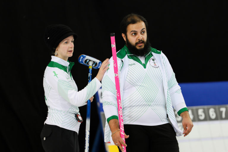 Saudi Arabia's Karrie and Suleiman Alaqel will be among 28 teams playing in Scotland this week for one of the four qualifying places for next year's WCF World Mixed Doubles Championship in Canada ©WCF