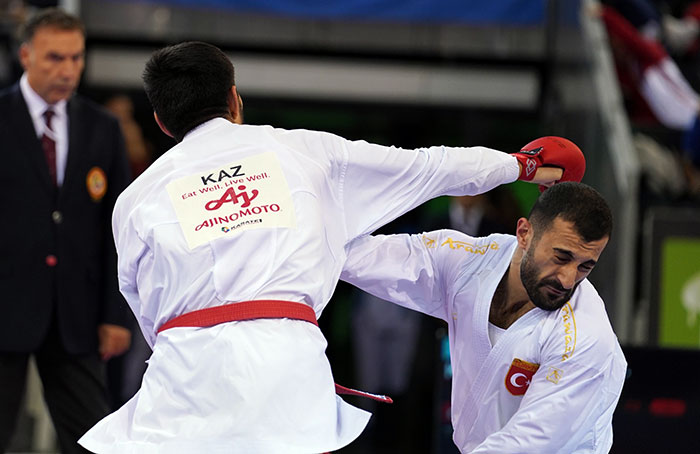 Kazakhstan celebrated three gold medals on the final day of competition ©World Karate Federation