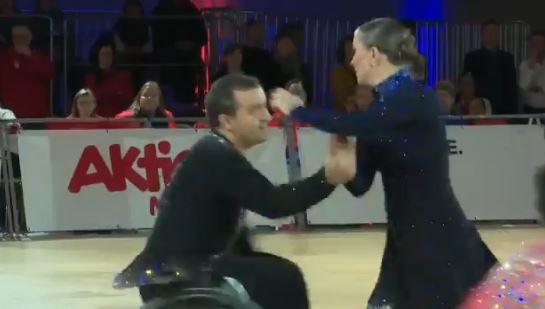 Russia's Maksim Sedakov won a second gold at the World Para Dance Championships tonight in partnership with Svetlana Kukushkina  ©World Para Dance Sport
