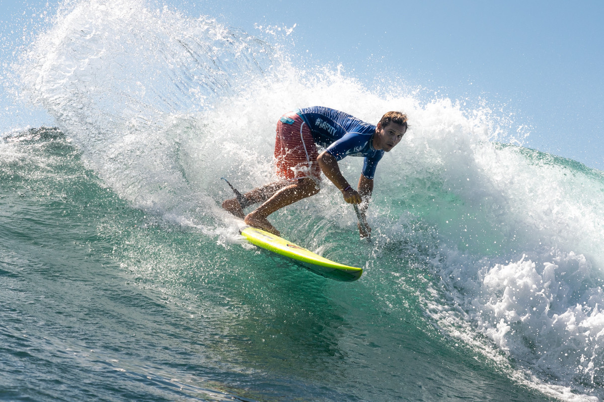 Alex Salazar pulled out all the stops in the men's final, claiming bronze for Brazil ©ISA