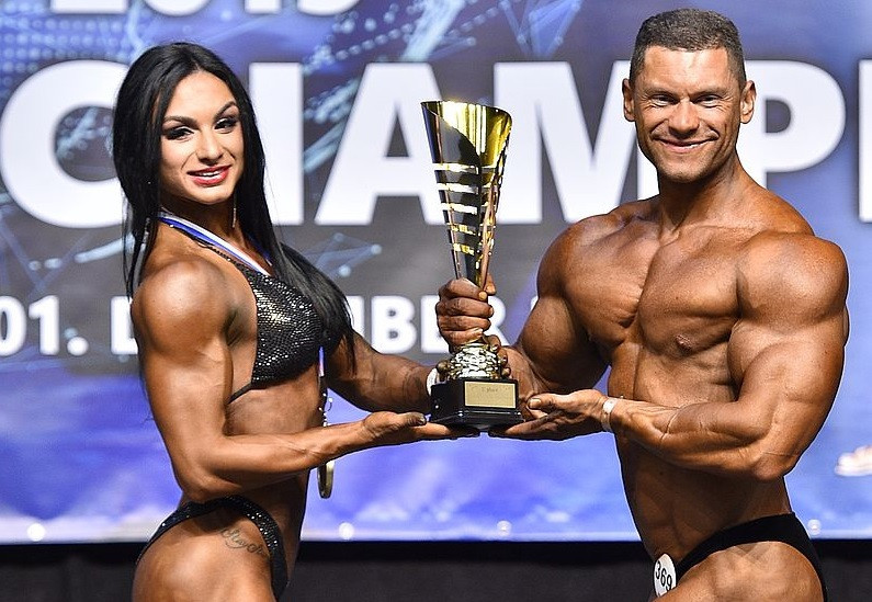 It was won by Liubov Popova and Yurii Zymohliad of Ukraine ©IFBB/EastLabs Photos