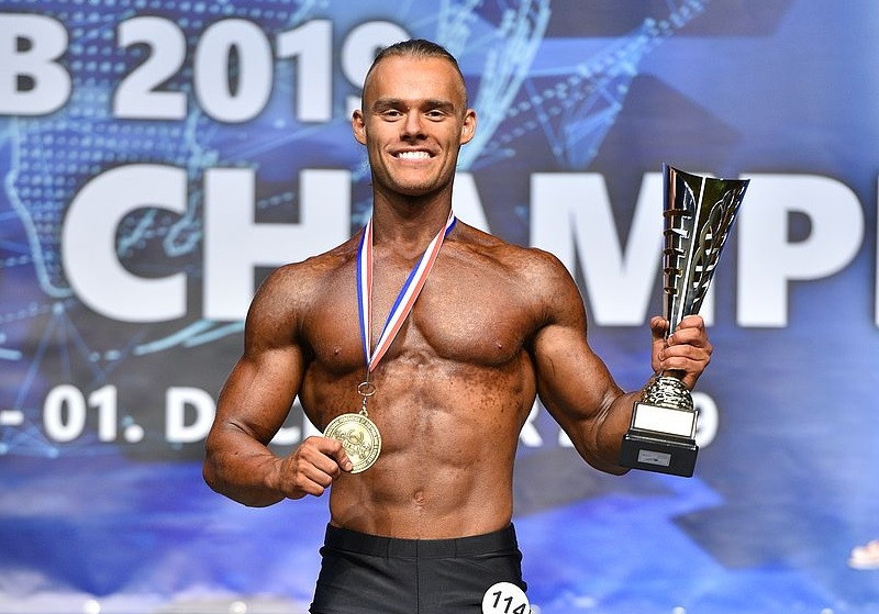 Another Slovakian, Michal Barbier, won the men's fitness open ©IFBB/EastLabs Photos