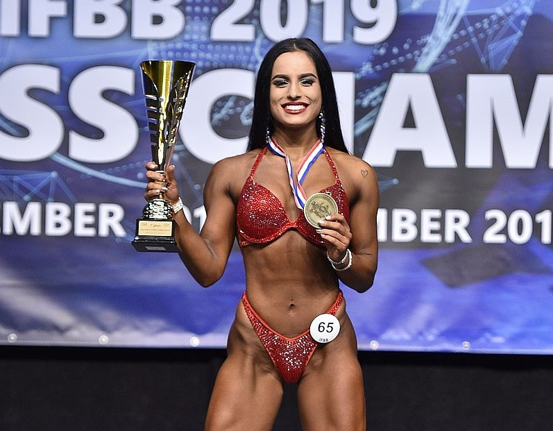 Michaela Pavleova achieved Slovakia's second in the 163cm ©IFBB/EastLabs Photos