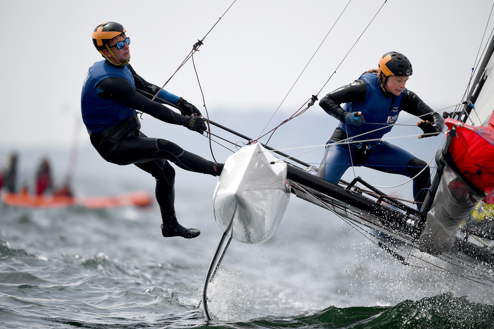 Britain's Ben Saxton and Nicola Boniface of will be aiming for a place at next year's Olympic Games in Tokyo at the Nacra 17 World Championships in Auckland ©Getty Images
