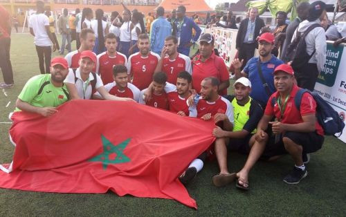 Morocco celebrate progression to the Paralympic Games ©IBSA