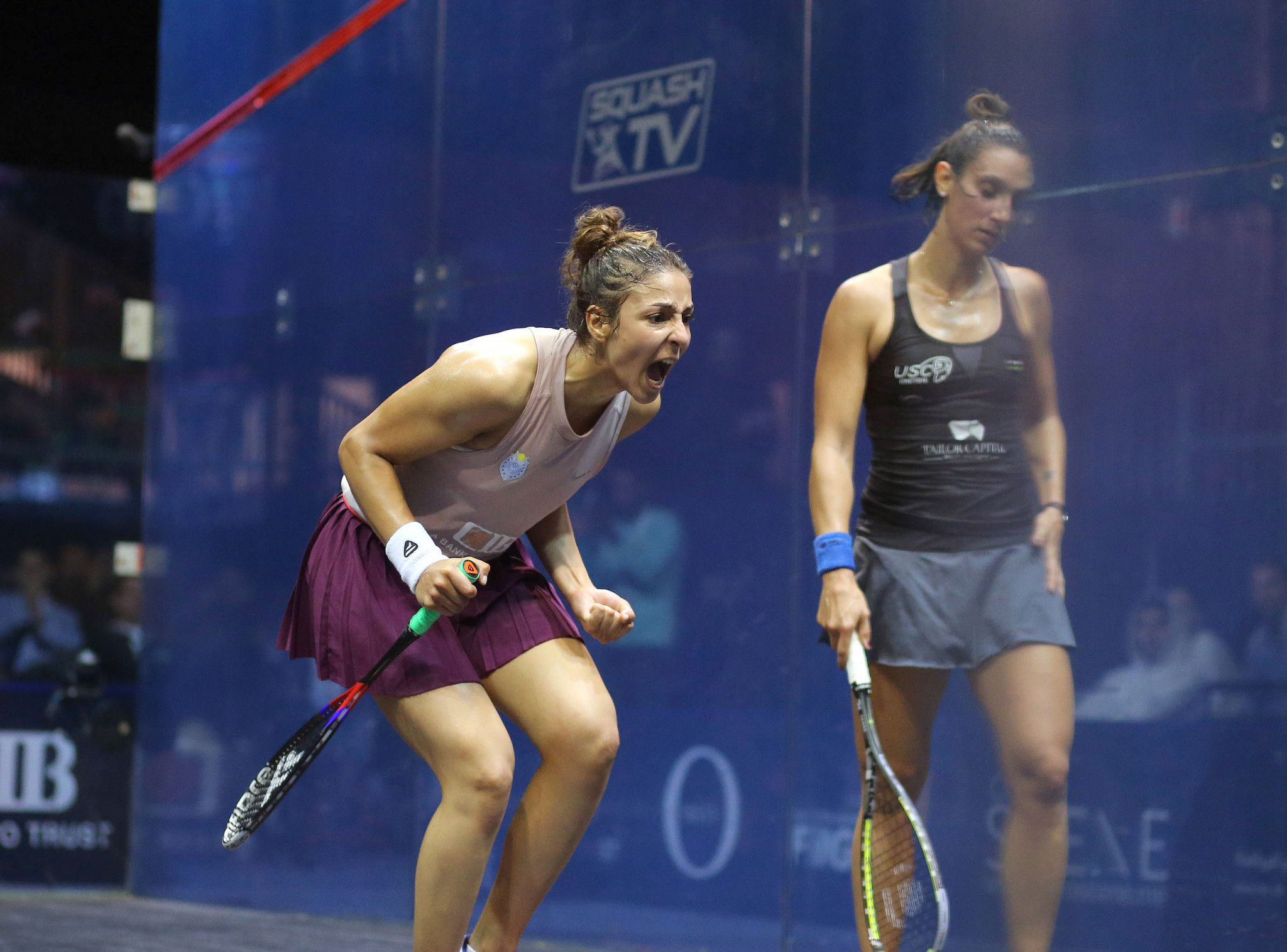 Hania El Hammamy has moved into the top 10 of the women's rankings ©PSA
