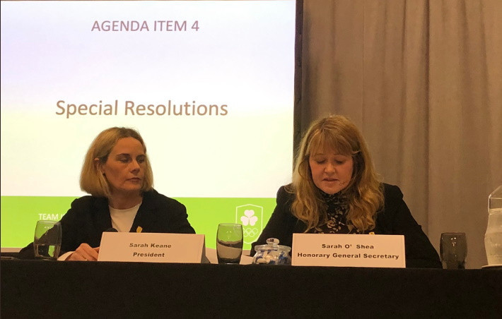 Constitutional changes agreed at Olympic Federation of Ireland Extraordinary General Meeting