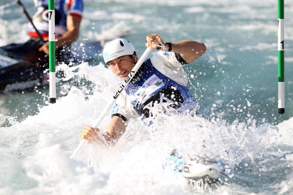 David Florence at the Rio 2016 canoe slalom test event, where he won gold and silver ©Getty Images