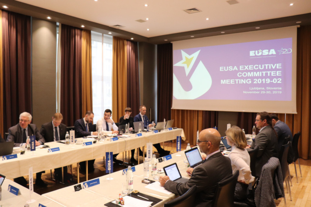 EUSA held their Executive Committee meeting before the 20th anniversary award ceremony ©EUSA