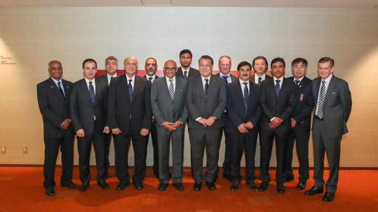 This photo of the Asian Football Confederation Technical Committee created a backlash on Twitter ©AFC