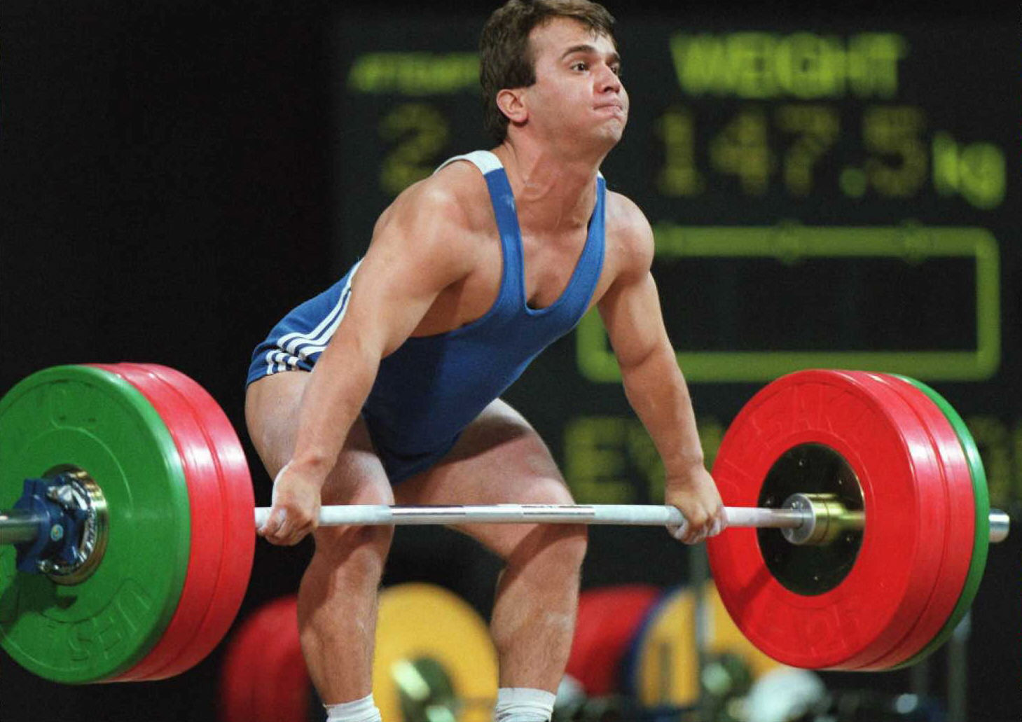 Turkish weightlifter Naim Süleymanoğlu, who won the last of his three Olympic gold medals at Atlanta 1996, has been commemorated in a new biopic ©Getty Images